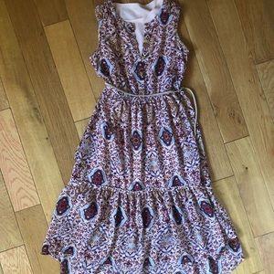 Girls Xhilaration S (6/6X) Waterfall Front Dress